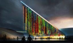 Pendrillons écran led du parc des expositions Paris
